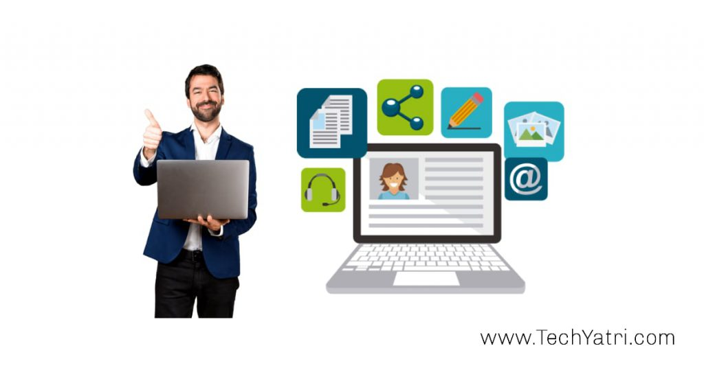 blogging work from home idea in hindi