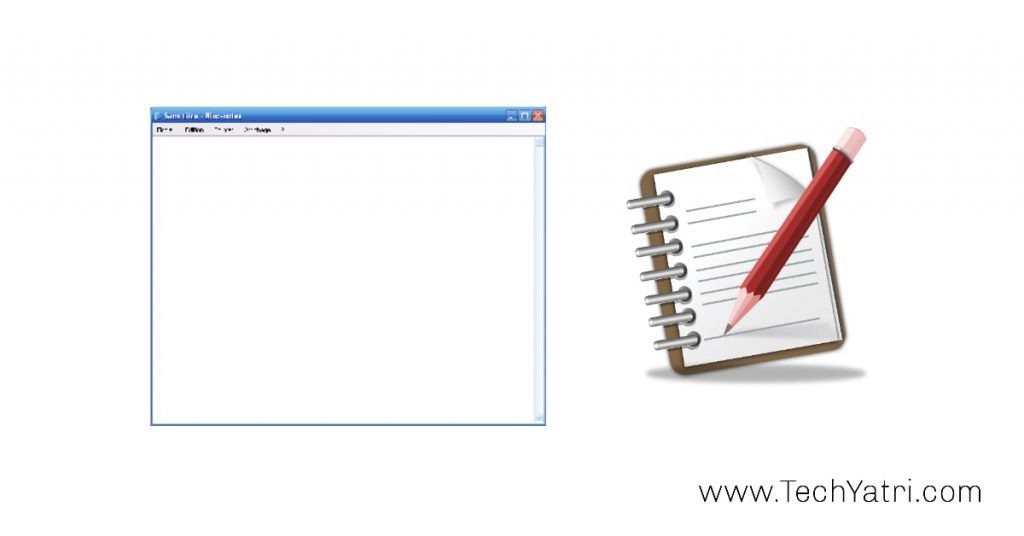 how to open notepad browser in hindi