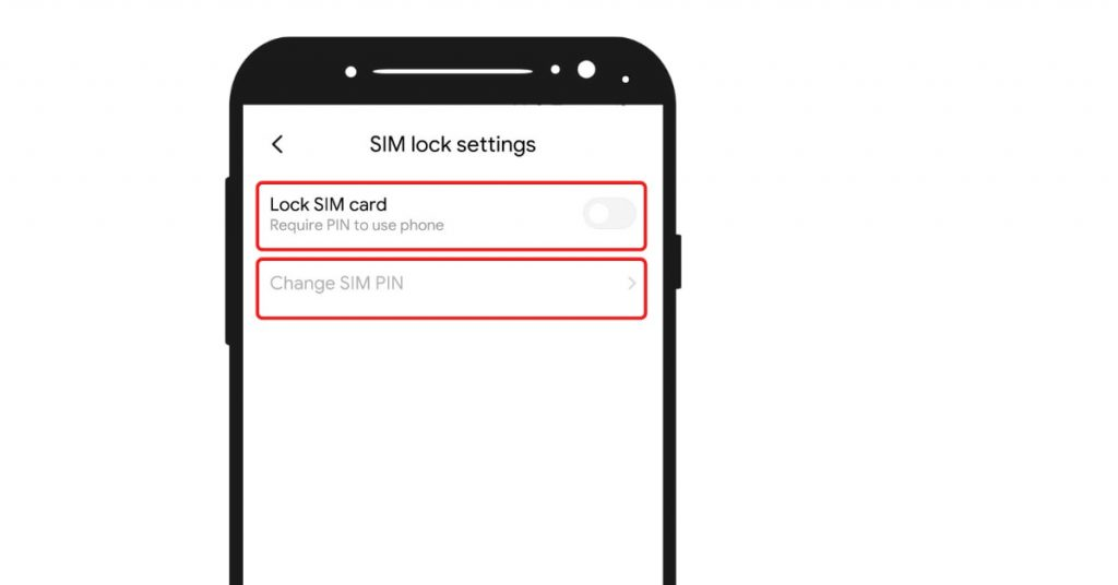 SIM lock settings