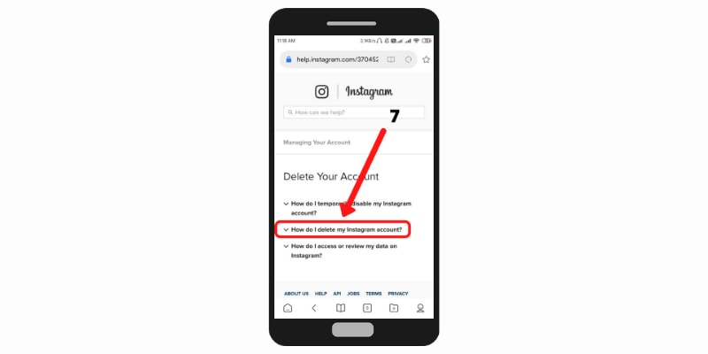 How to delete instagram account permanently in hindi - 1