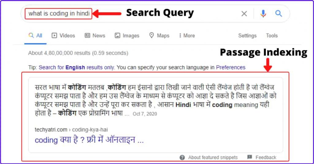 Passage Indexing In Hindi