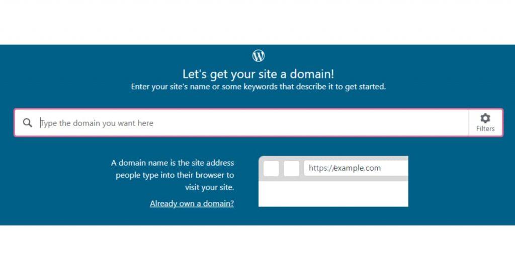 select domain wordpress