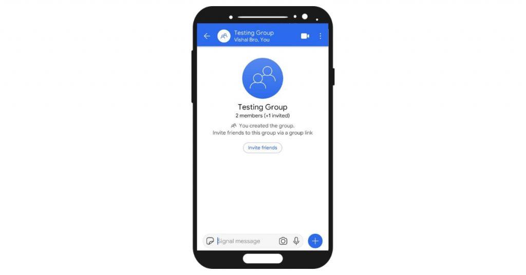 signal app group