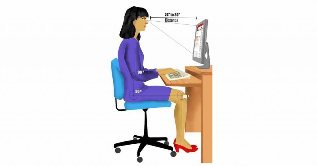 Sitting posture typing hindi