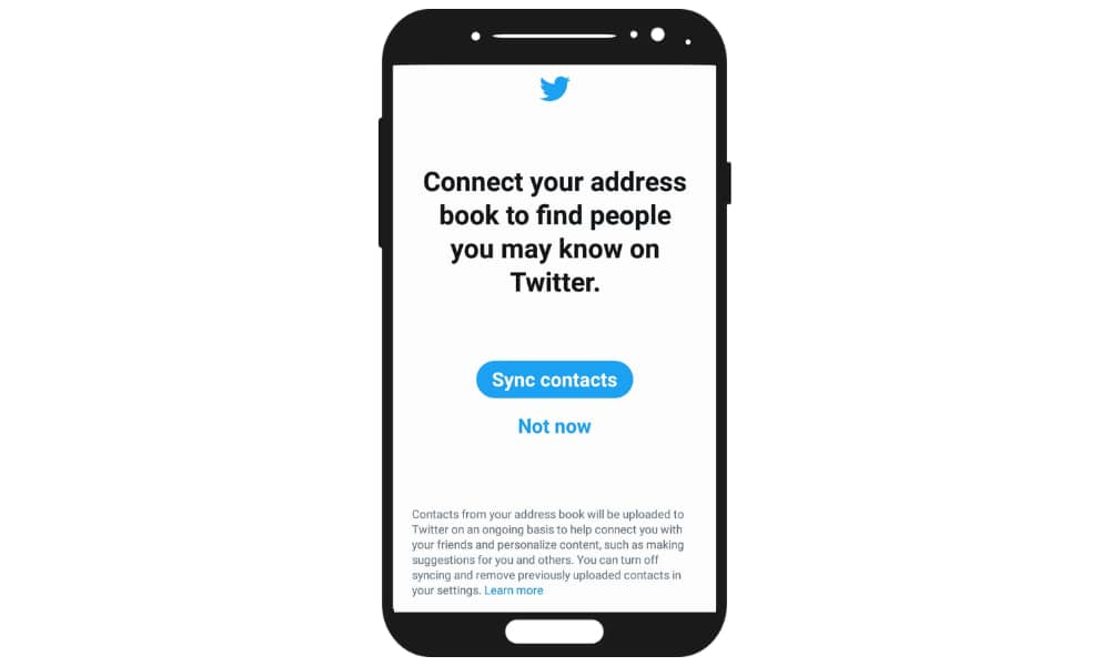 twitter contact sync