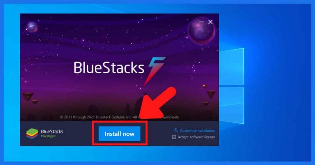 BlueStack Installation on pc
