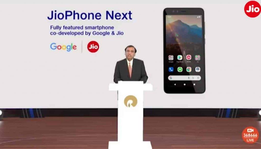 Jio Phone Next announce