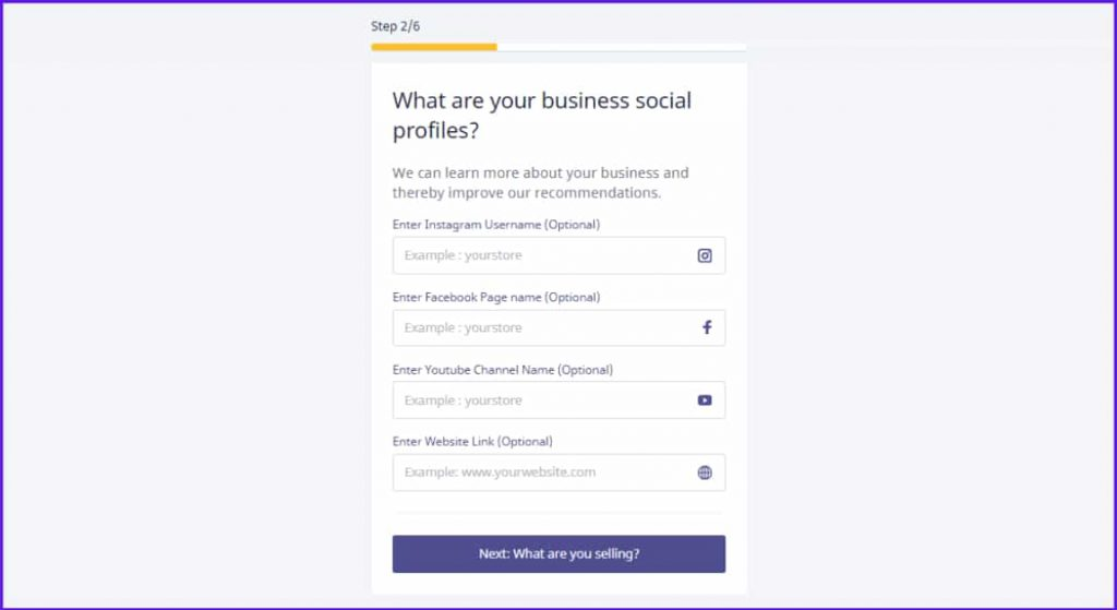 what are your business social profiles instamojo