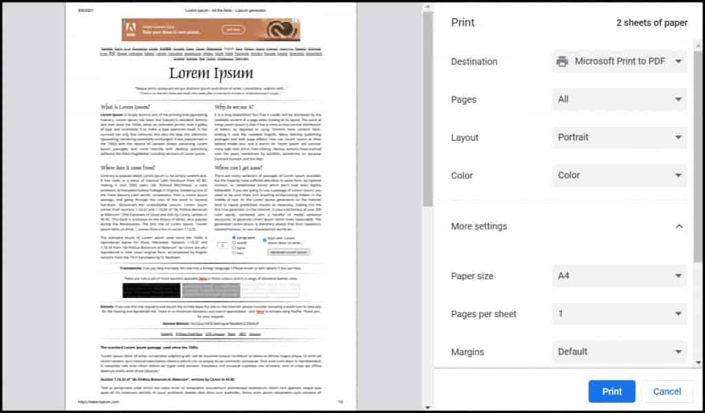print interface